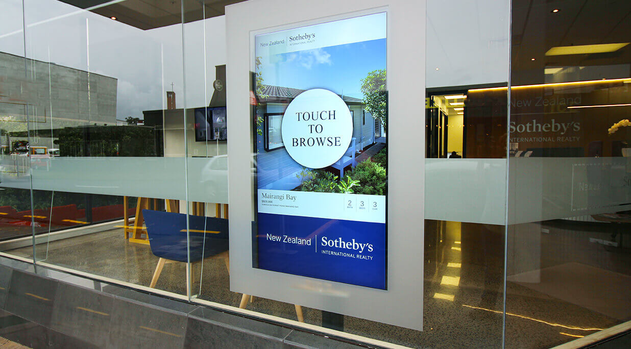 Real Estate Digital Signage & Touch Window Displays