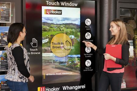 LJ Hooker Whangarei shopfront real estate display goes interactive