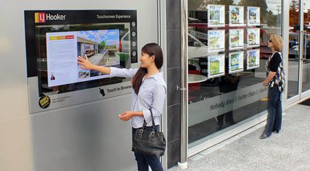 Touch screen shop windows arrive for real estate agents
